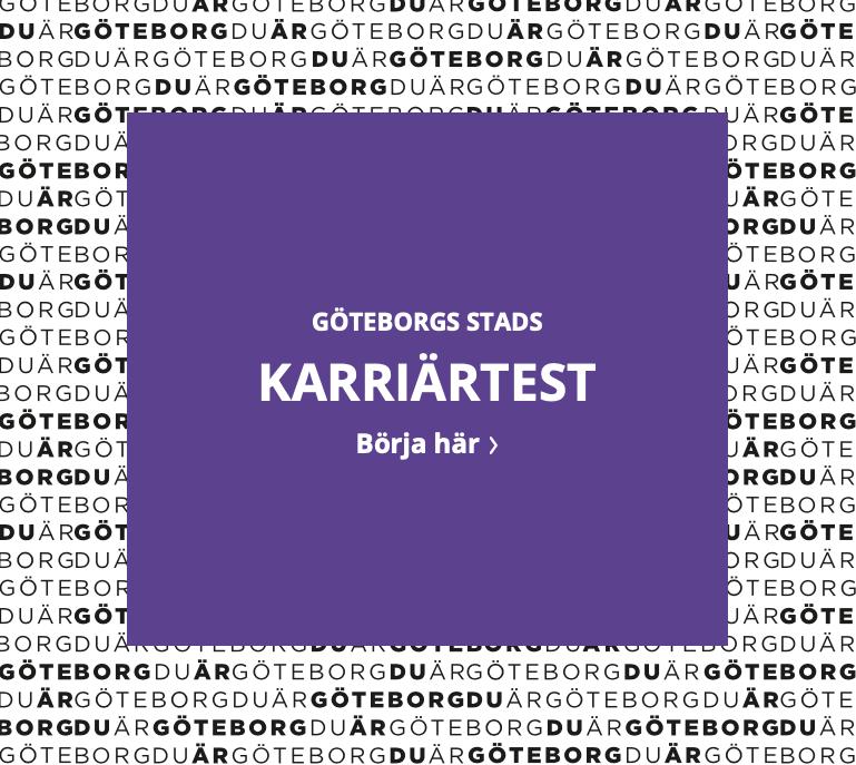Nästa sida: Göteborg Stads karriärtest