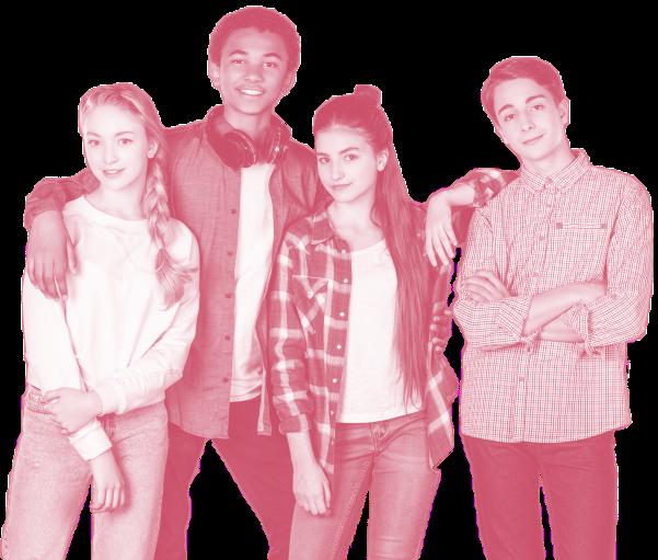 fyra ungdomar – två killar och två tjejer